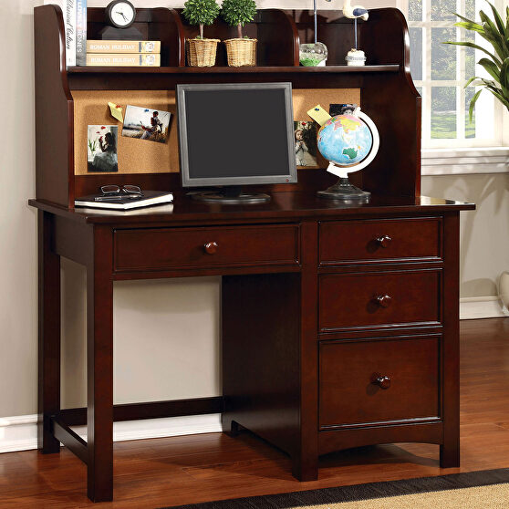 Cherry finish solid wood transitional desk