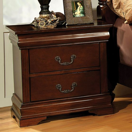 Brown cherry finish English style night stand