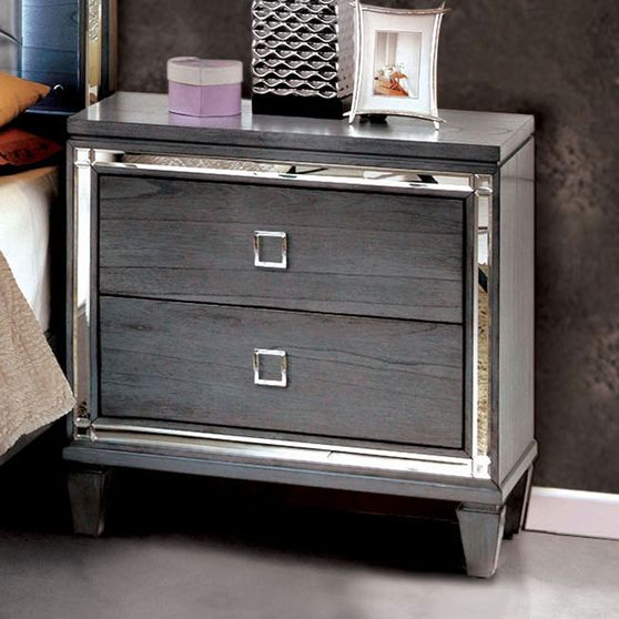 Gray contemporary style night stand