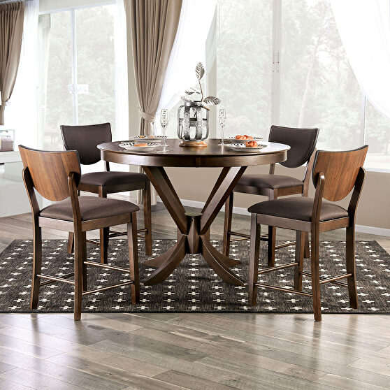 Walnut/ dark chocolate counter height table