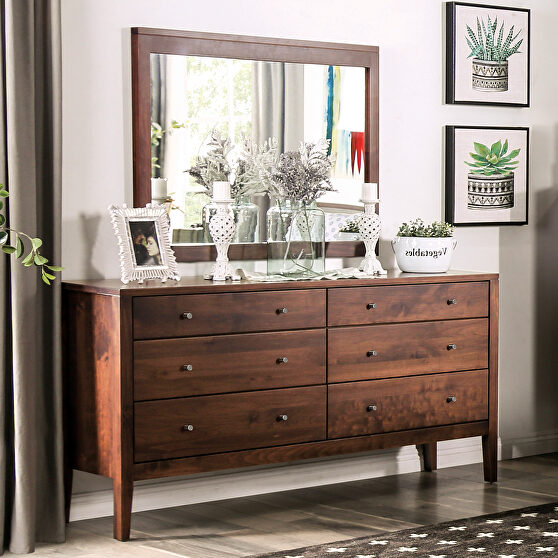 Espresso durable lacquer top coat mid-century modern dresser