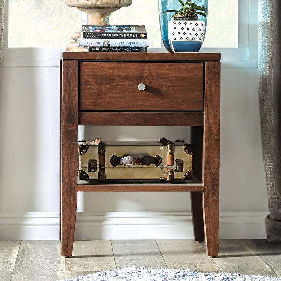 Espresso durable lacquer top coat mid-century modern nightstand