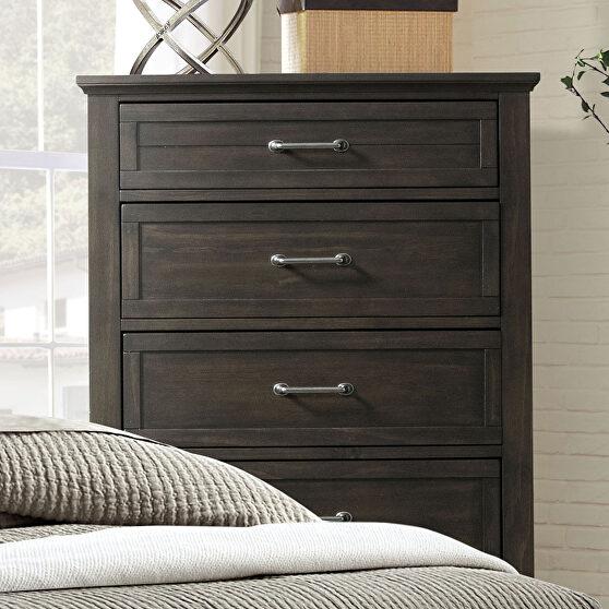 Walnut paneled design transitional chest