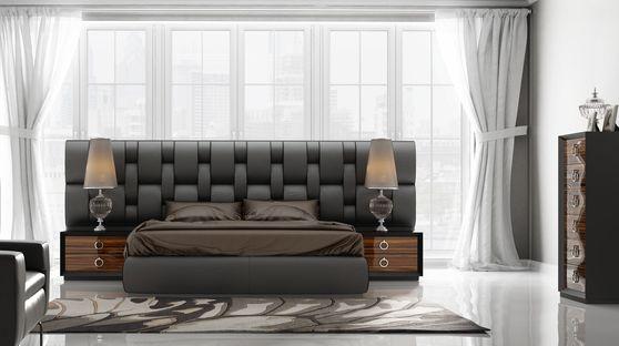 Wide leather headboard platform EU-made full bed