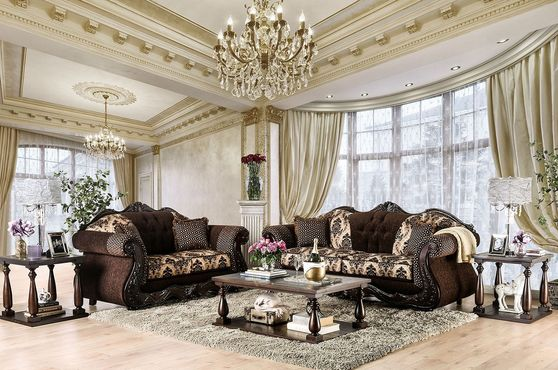 Dark Brown US-Made Traditional Sofa