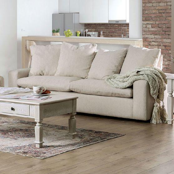 Cream Acamar Contemporary Sofa Made in US