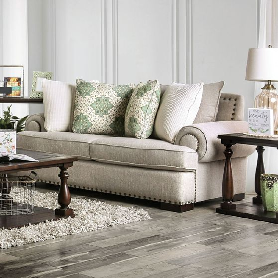Brown Yates Traditional Loveseat Made in US