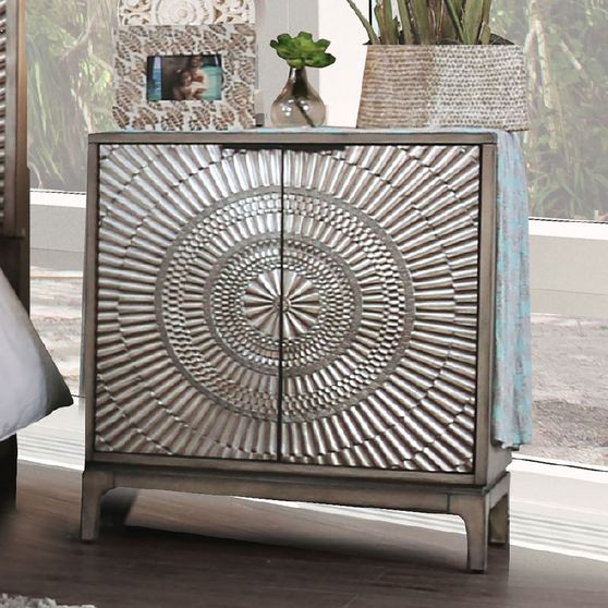 Antique gray night stand