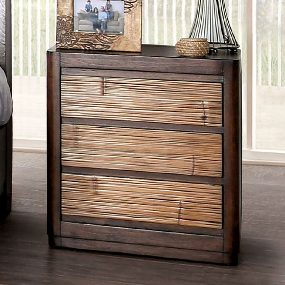 Summer style wood grain finish night stand