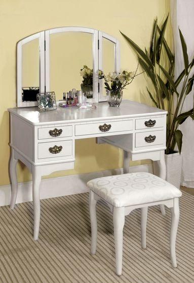 Elegant modern vanity set with stool