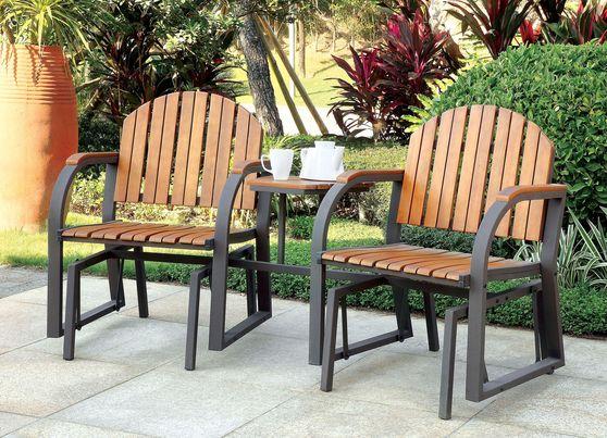 3pcs patio table + 2 stools set