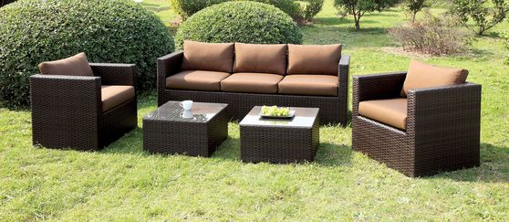 5PCS Outdoor Furniture Set in Brown