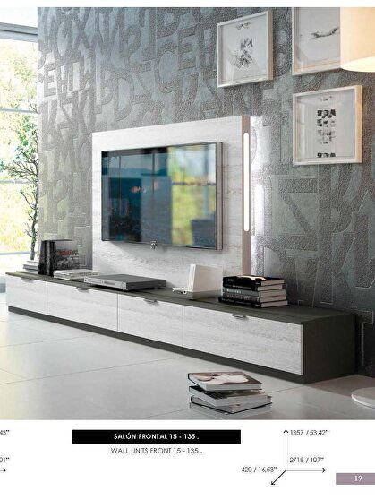 Contemporary hanging wall-unit