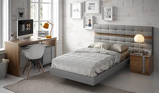 Special order gray / walnut bed