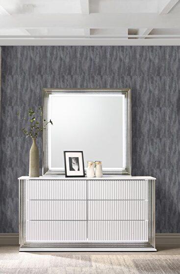 Contemporary white dresser w/ led