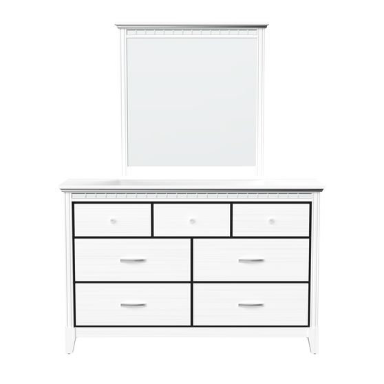 Affordable white dresser w/ mirrored accents