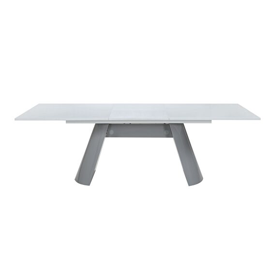Extension white / gray contemporary dining table