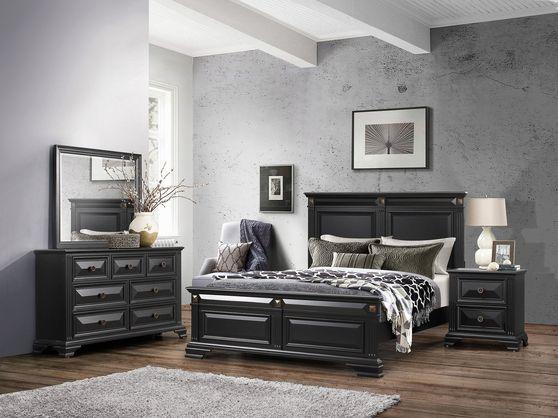 Antique black finish 5pcs bedroom set