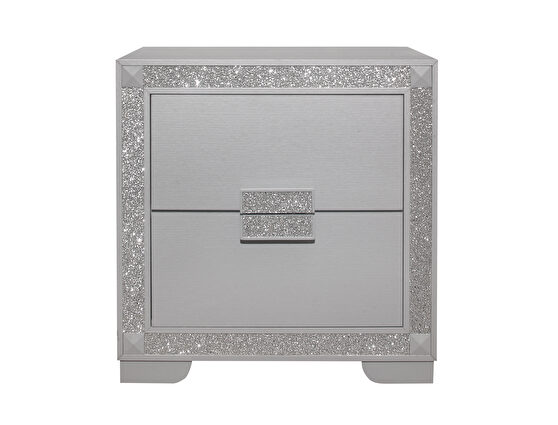 Glam style silver night stand