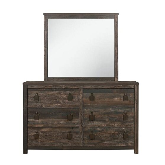 Weathered rustic finish casual style dresser