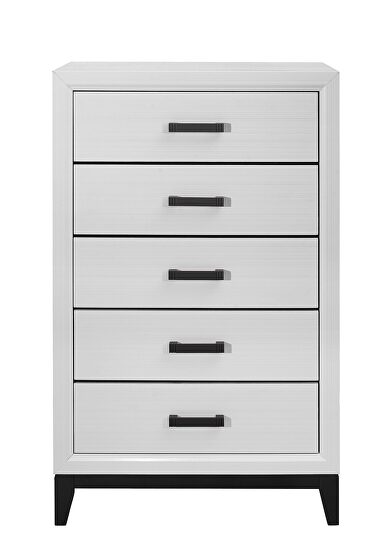 White contemporary style casual chest