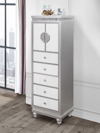 Silver/white lingerie chest