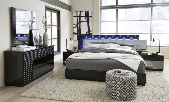 Low-profile modern bed 5pcs set