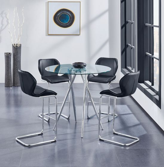 Round glass top elegant bar style table