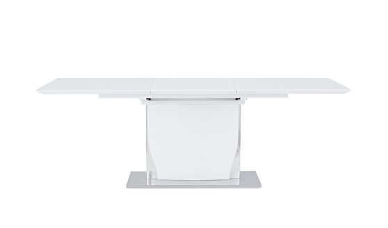 White high gloss modern table w/ extensions