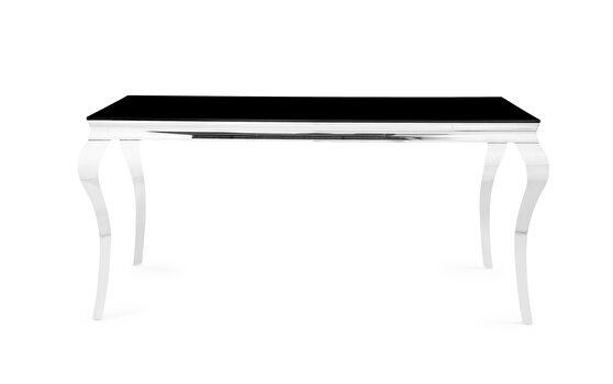 Chrome/black modern dining table