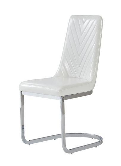 White chevron detail dining chair