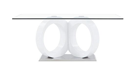 Futuristic design glass top dining table