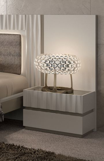 Contemporary light beige / tan night stand