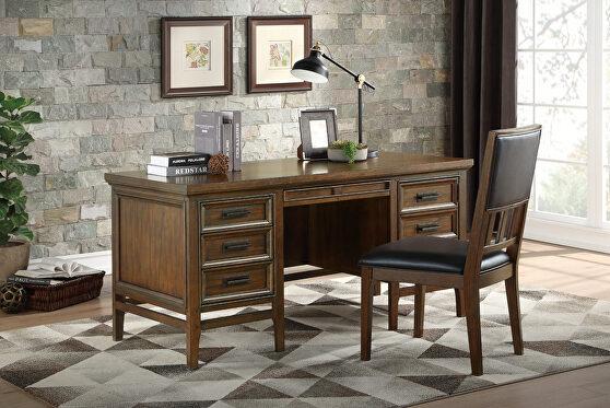Brown cherry finish executive desk