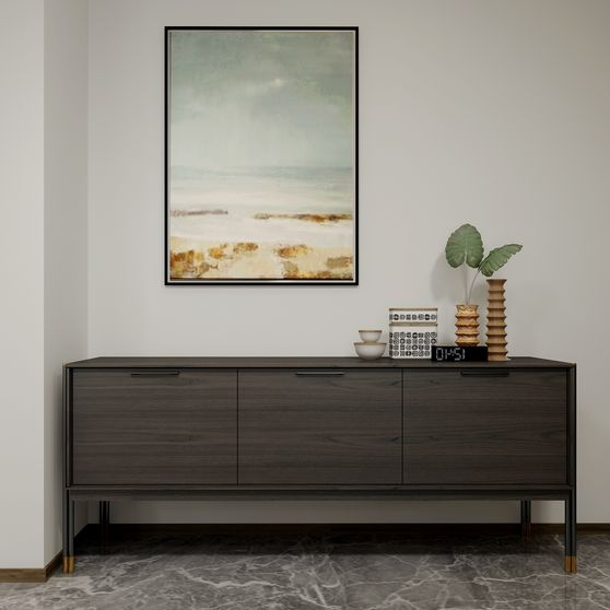 Contemporary look solid wood buffet