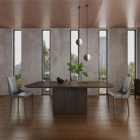 Contemporary look family size dining table