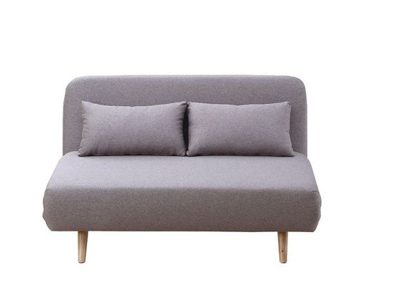 Premium sofa bed in beige fabric