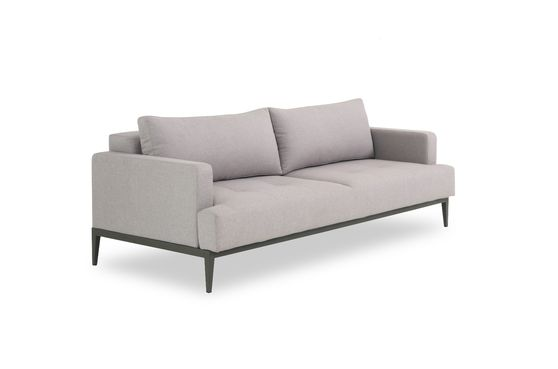 Modern gray fabric sofa bed