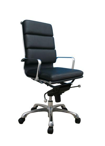 Modern office chair w/ black seat