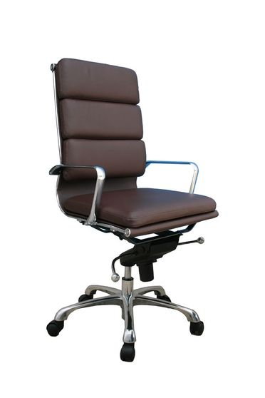 Modern office chair in brown