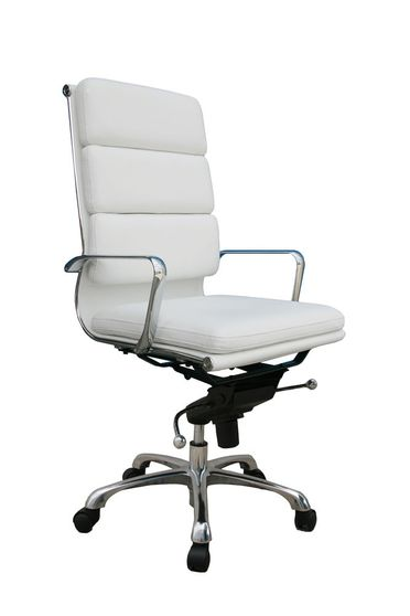 Modern office chair in white