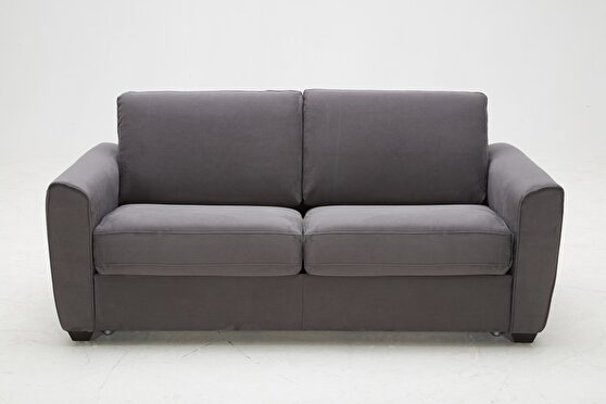 Gray fabric premium sofa / sofa bed