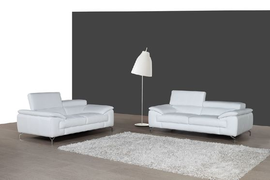 White italian leather sofa / loveseat set