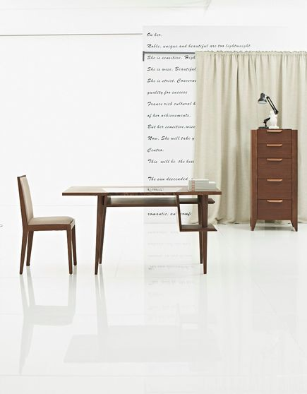 Brown contemporary desk