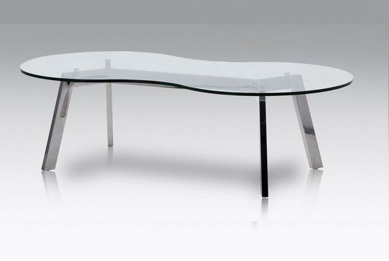 Occasional glass top / metal base coffee table