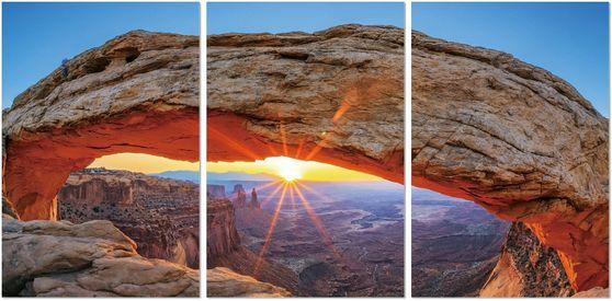 Desert sun 3pcs premum acrylic wall art