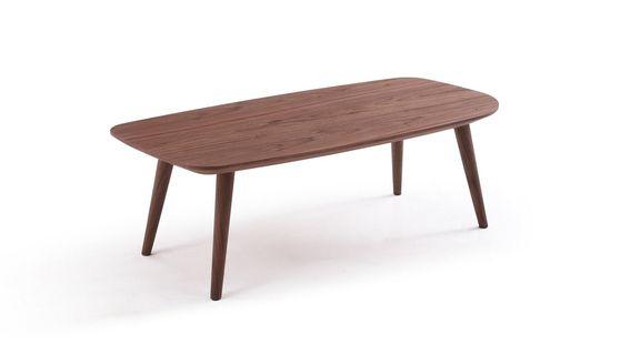 Rich warm walnut finish coffee table