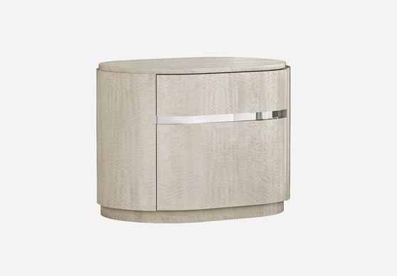 Light maple veneer modern night stand