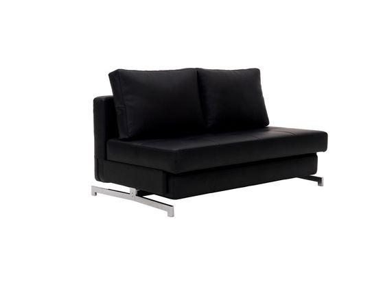 Contemporary sleeper sofa bed loveseat in black