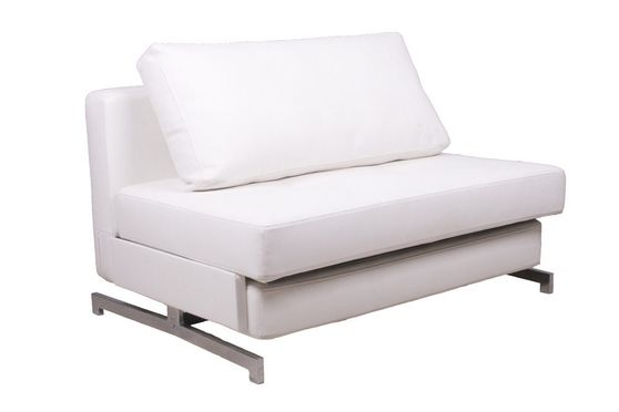 Contemporary sleeper sofa bed loveseat in white